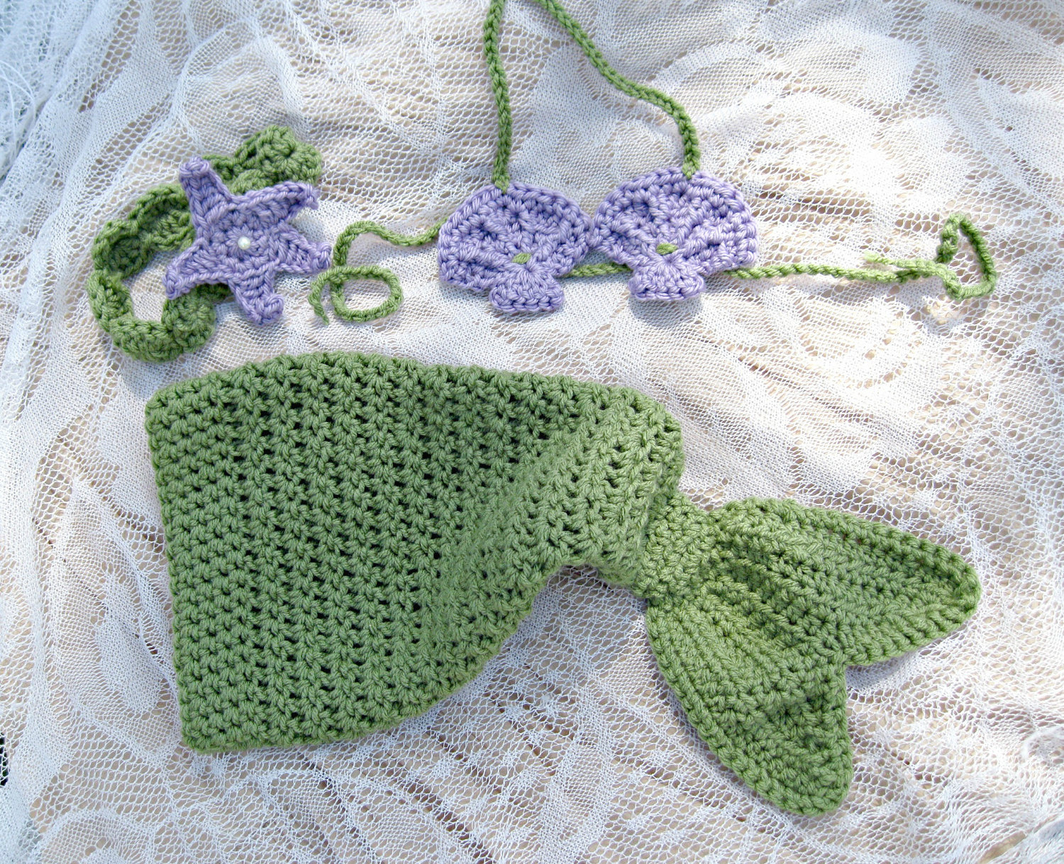 Crochet Mermaid Inspired Baby Girl Outfit Great by RindCounty ...