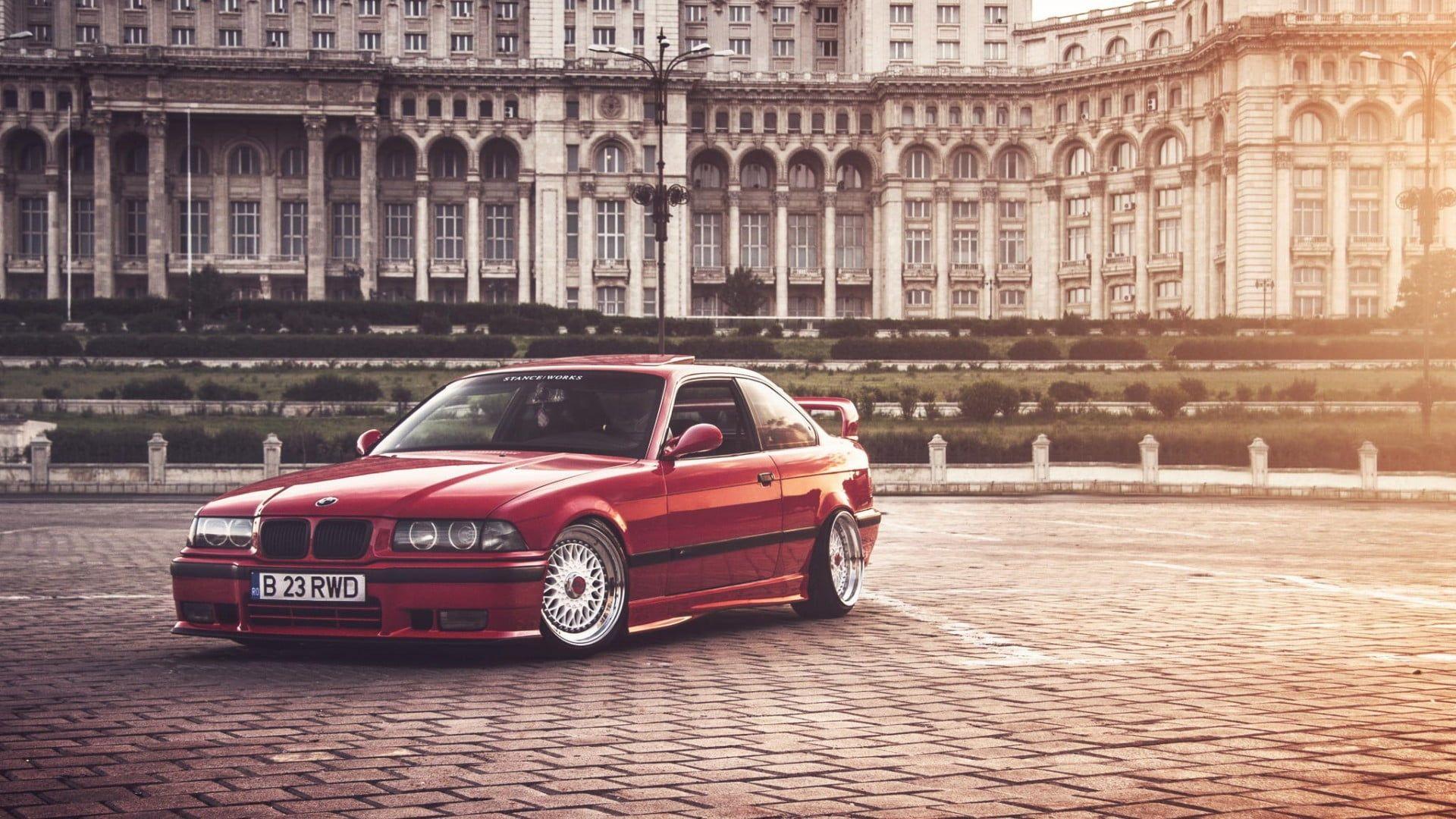 Red Bmw Coupe Bucharest Bmw E36 Stance Bmw 1080p Wallpaper Hdwallpaper Desktop In 2021 Bmw Bmw Coupe Bmw E36