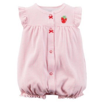 Baby+Girl+Carter's+Applique+Snap-Up+Romper