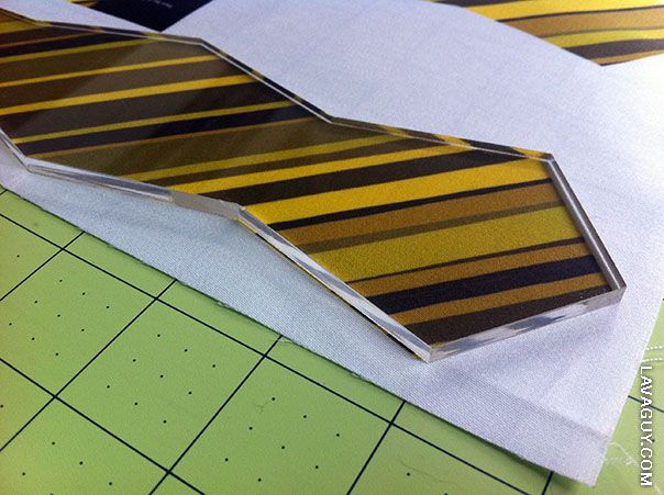 Using Acrylic Templates To Save Time  Bow Ties  Fabrics