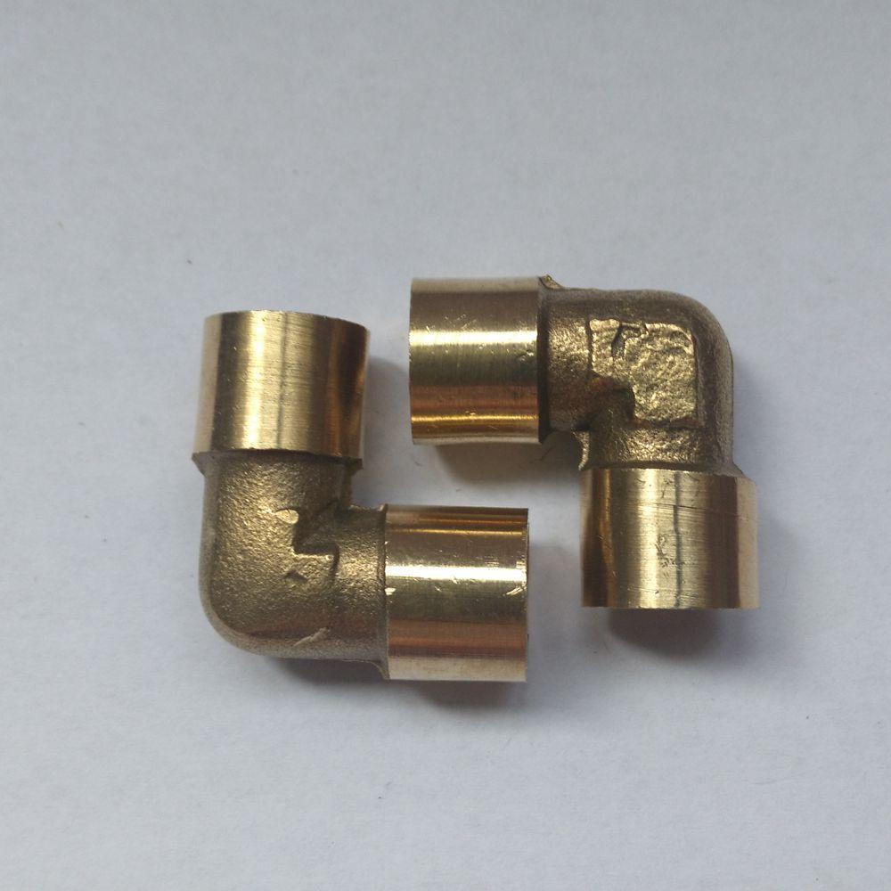 "Brass Female Threaded Reducing Elbow Ell Fitting 3//8/"" x 1//8/"""