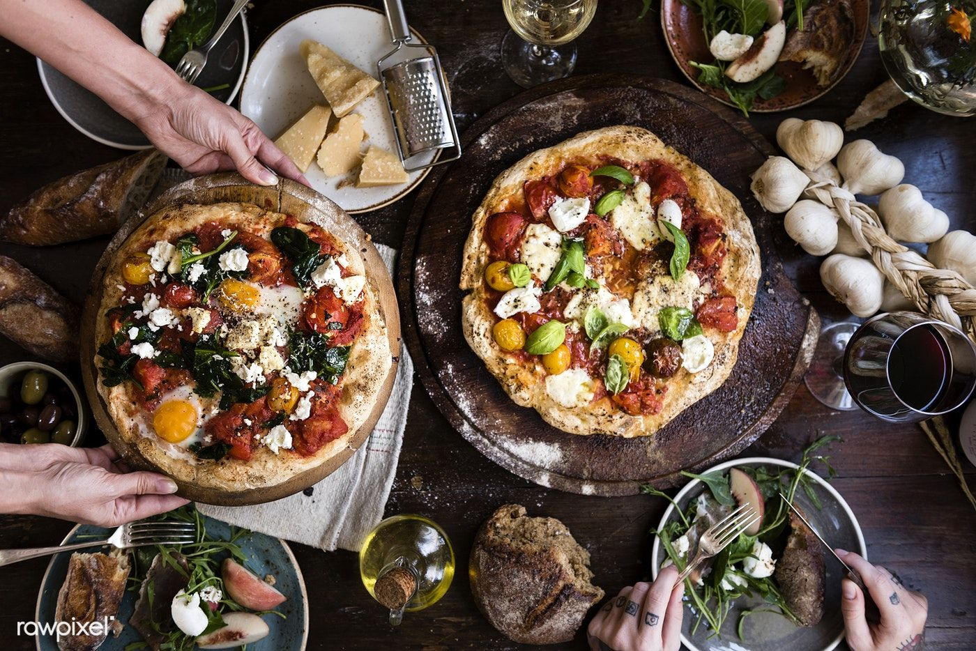 Download Premium Image Of Serving A Pizza Food Photography