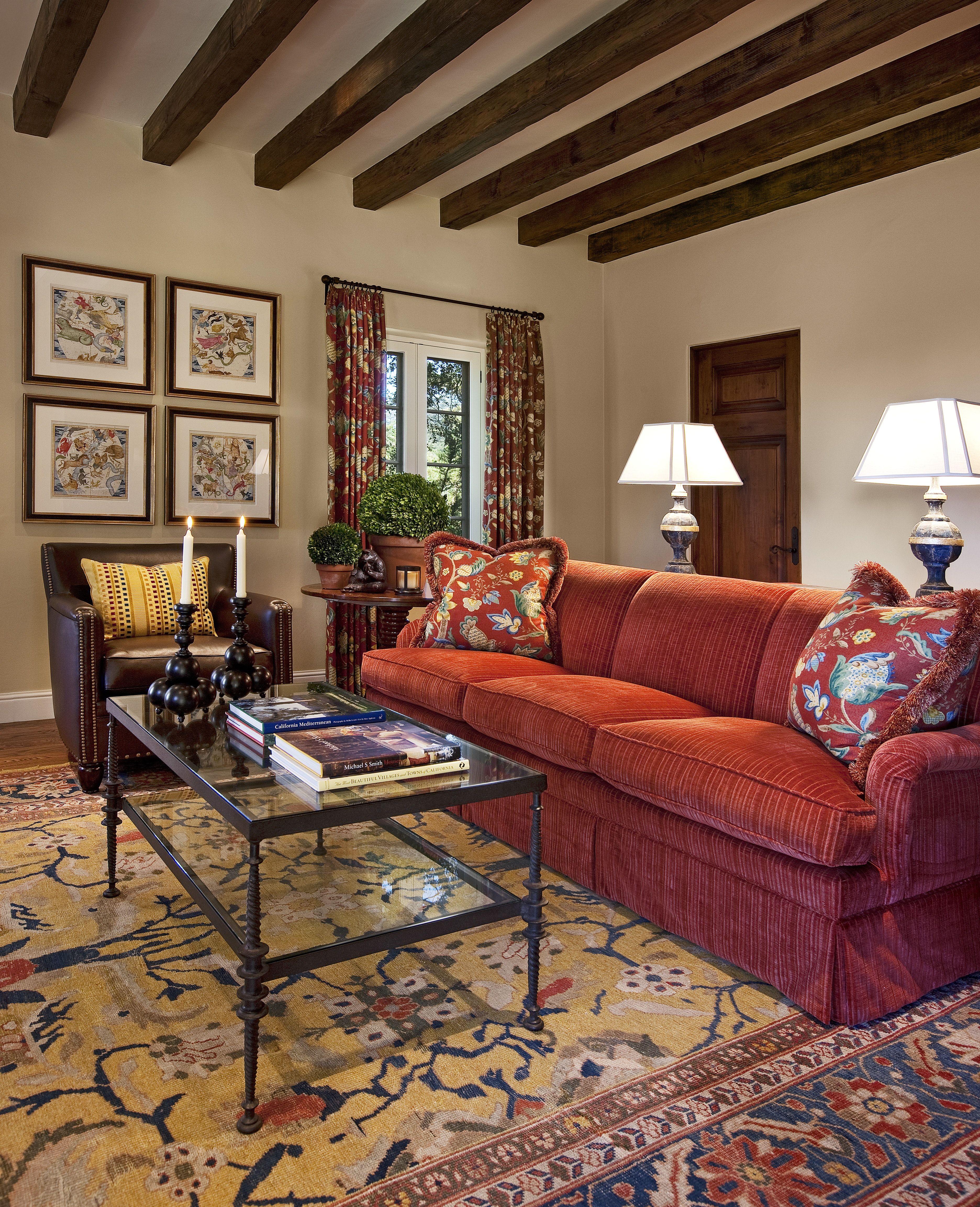 Fall Interior Decorating Ideas 2019 Mediterranean Mediterranean Living Room, Montecito, California   A Pretty Liv rm