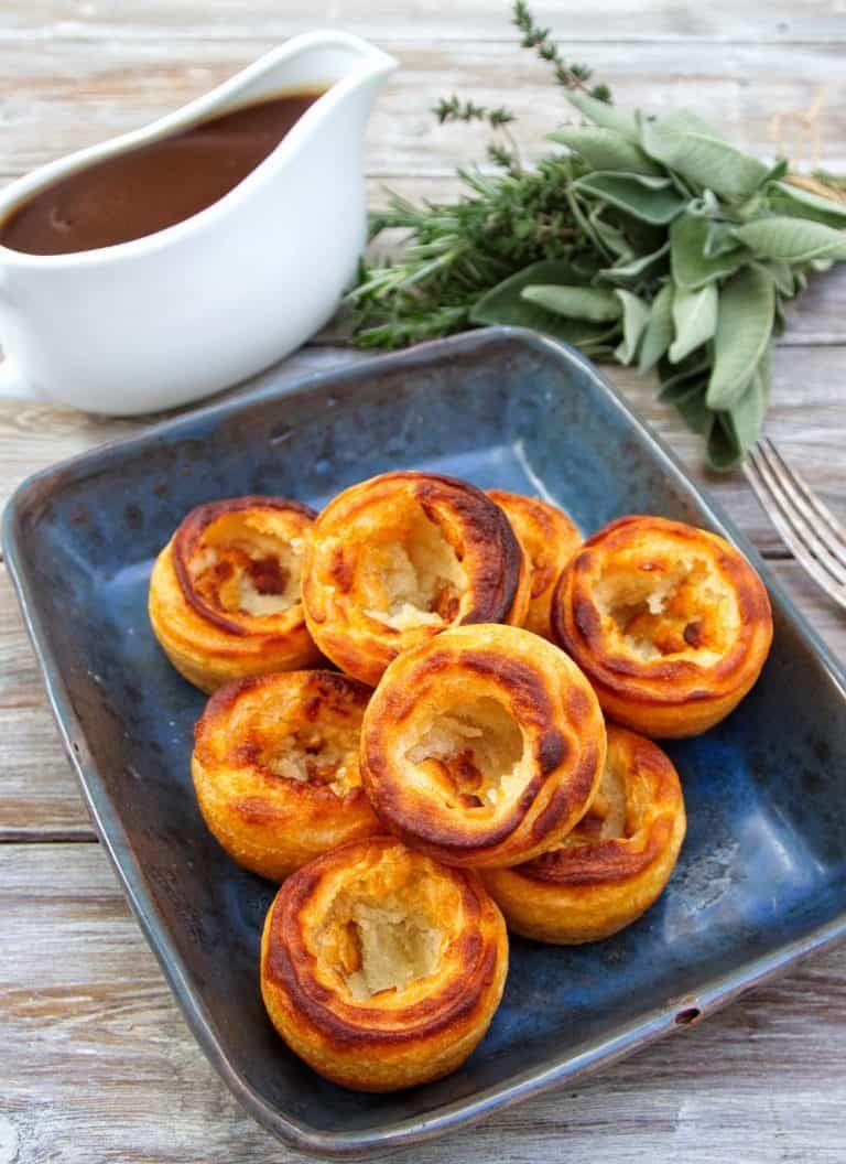 Yorkshire Puddings Gluten Free Vegan Healthy Living James 5 Ingredient Egg Dairy Free Recipe In 2020 Yorkshire Pudding Vegan Gluten Free Vegan Dishes