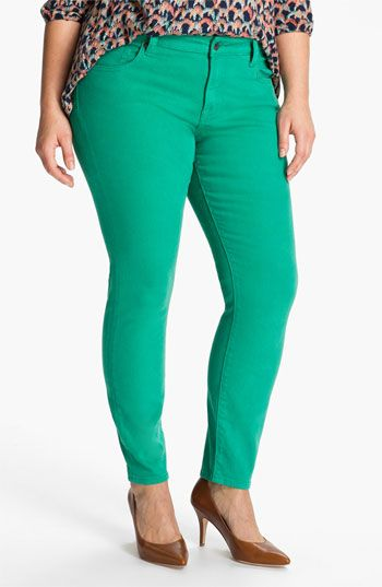 colored plus size jeans - Jean Yu Beauty