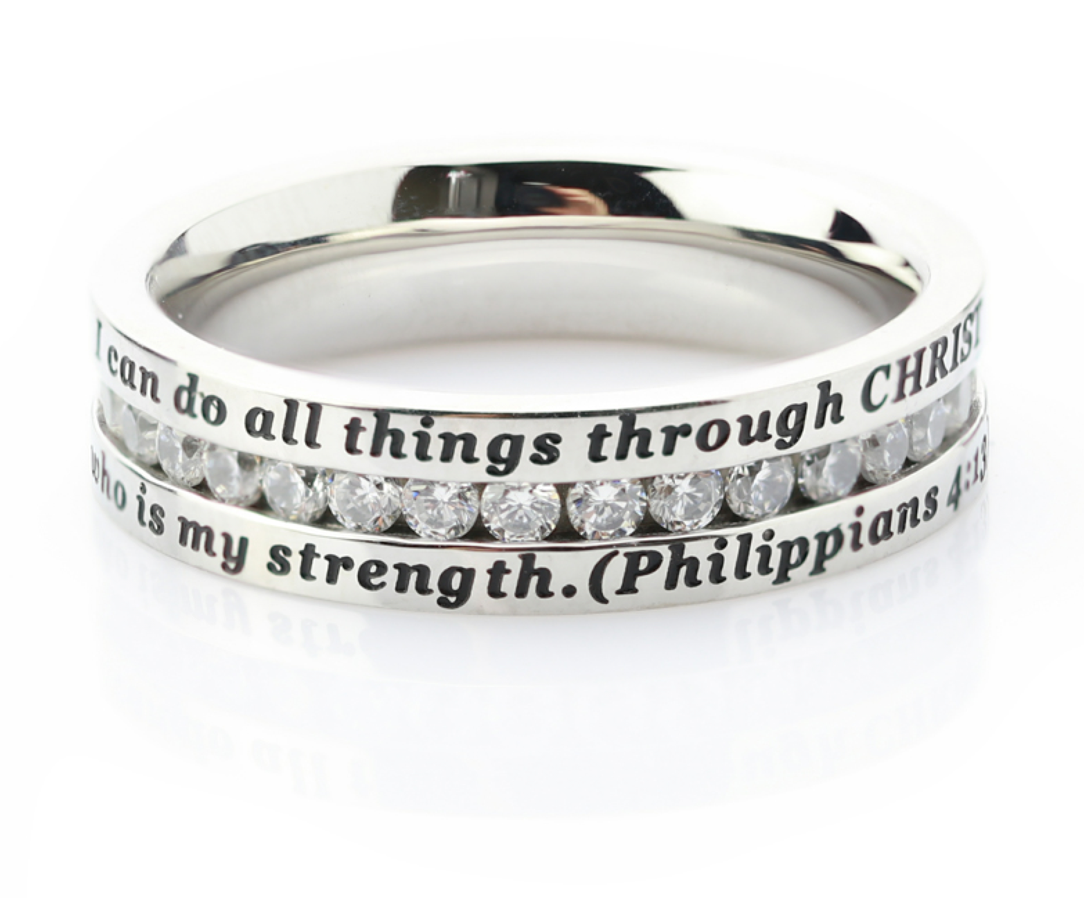 Philippians 4 13 All Things Elegance Ring