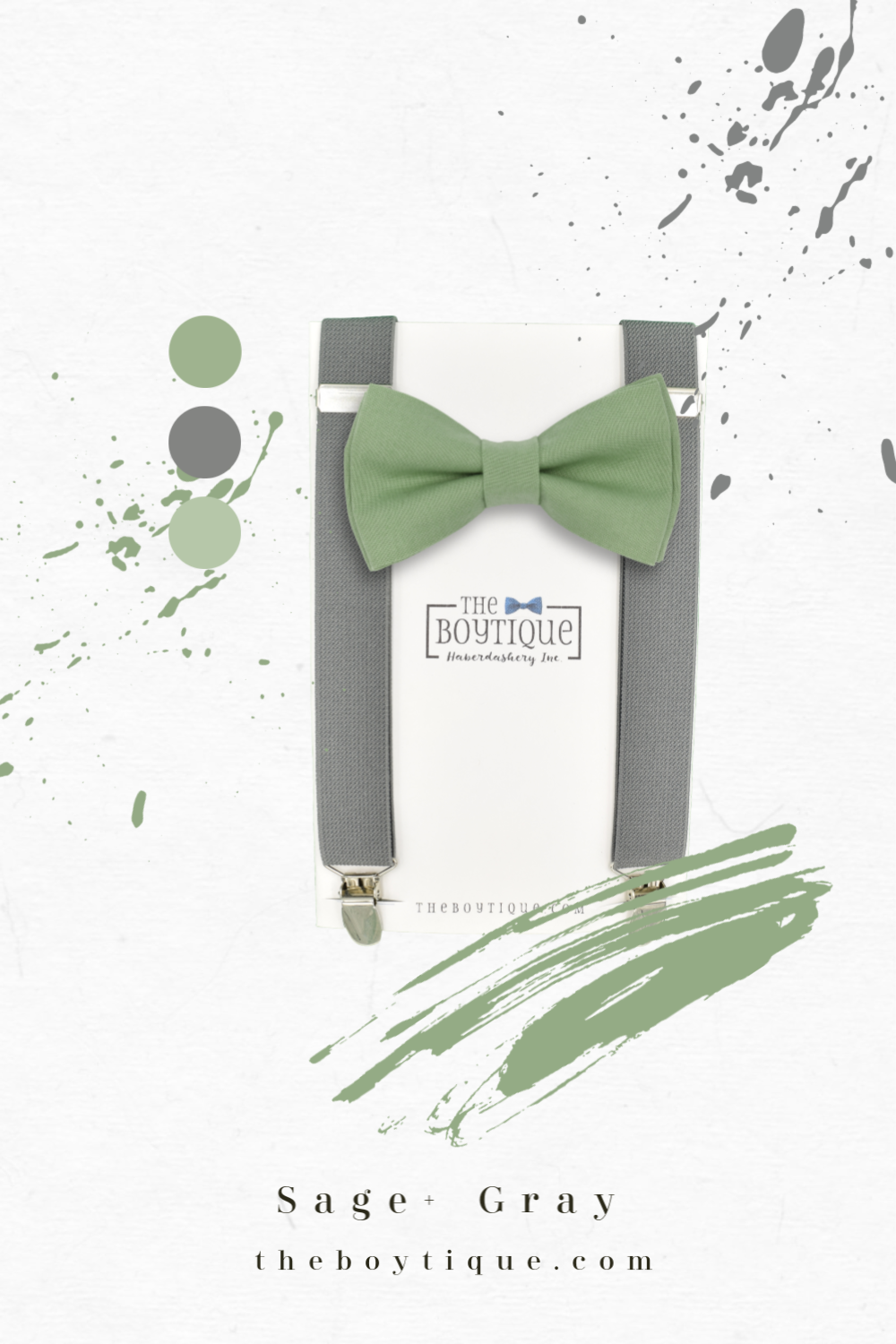 Sage Green Bow Tie GN35