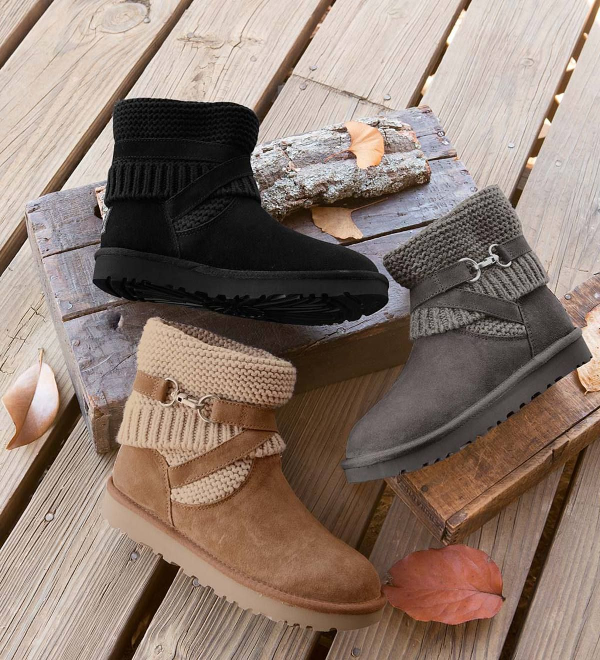 a34ac5df922 UGG's Purl Strap Boot combines the coziness of your favorite sweater ...