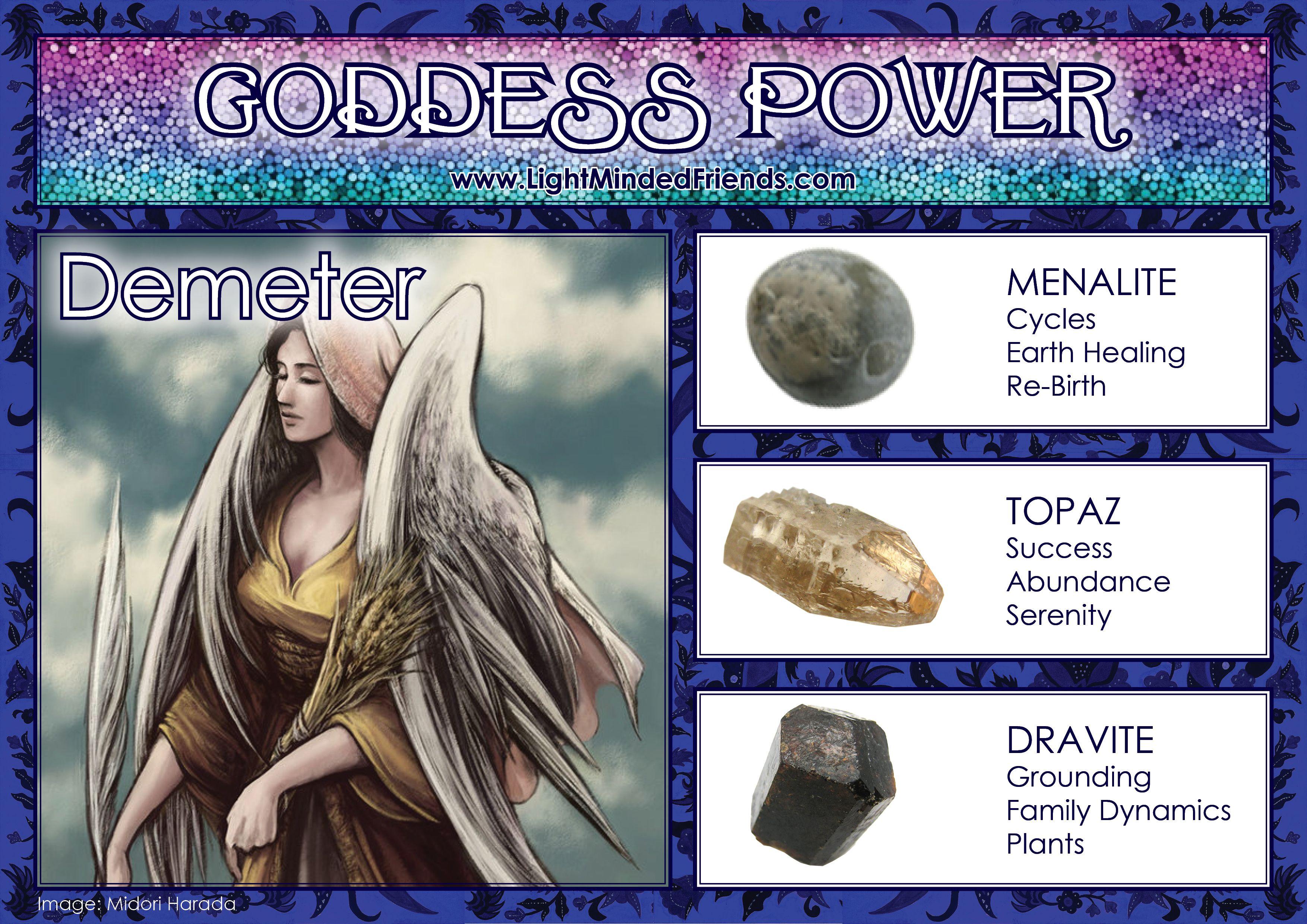 Goddess Power Demeter Crystal Goddess Healing Magic Goddess