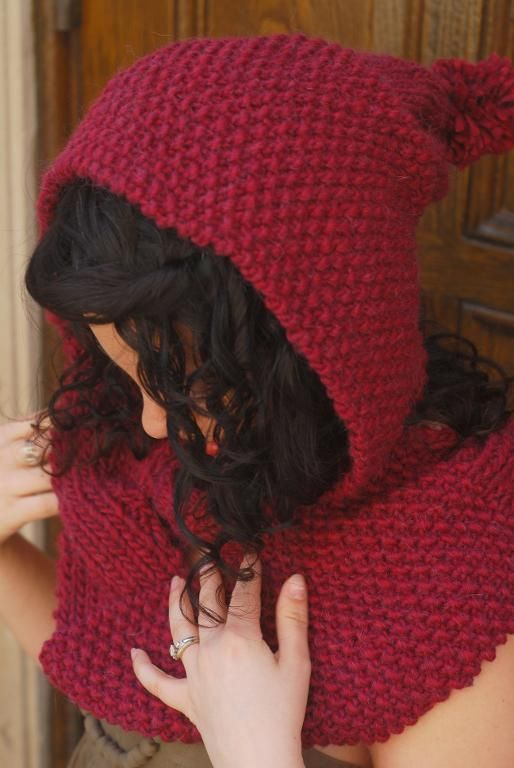 Find the Perfect Hooded Scarf Knitting Pattern | Bufanda con capucha ...