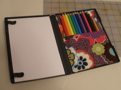 travel coloring case (from DVD case)