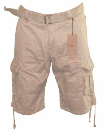 Waist Mens cargo shorts with belt Size 30