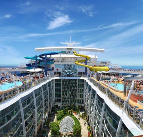 Water slides on Royal Caribbean #travel