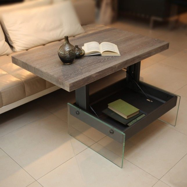 Small Space Hacks Bellagio Table 1 coffee table pops up to be a