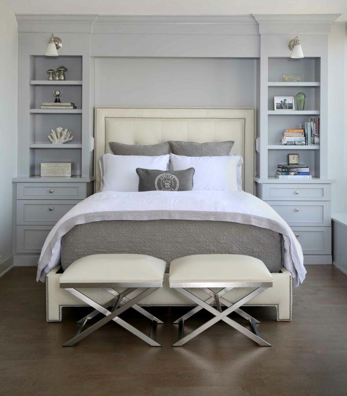 schlafzimmer grau 88 schlafzimmer mit deutlicher pr senz von grau schlafzimmer pinterest. Black Bedroom Furniture Sets. Home Design Ideas