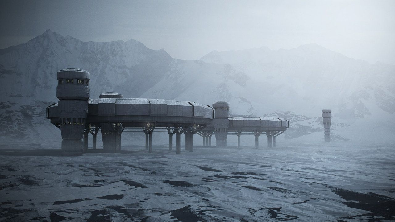 Snow matte painting by steve on for Space matte painting