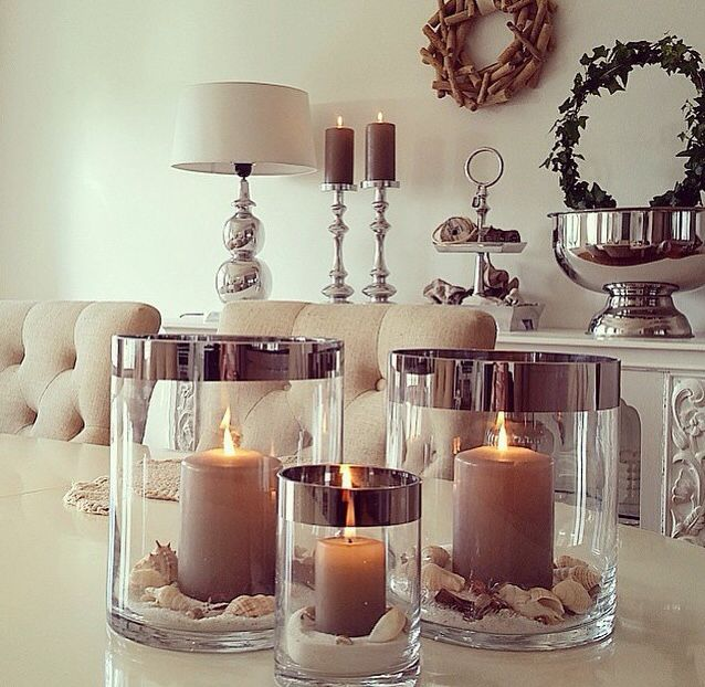 Pinterest Home Decore: Elegant (candels Flowers)