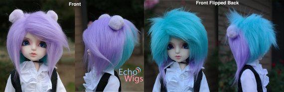 TeddyBear Custom Single or Two color wig 8/9 7/8 by EchoWigs