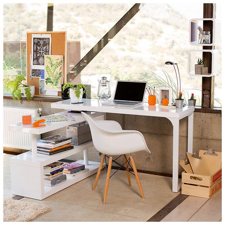 Home collection silla madera curva gales escritorio for Sillas de madera para escritorio