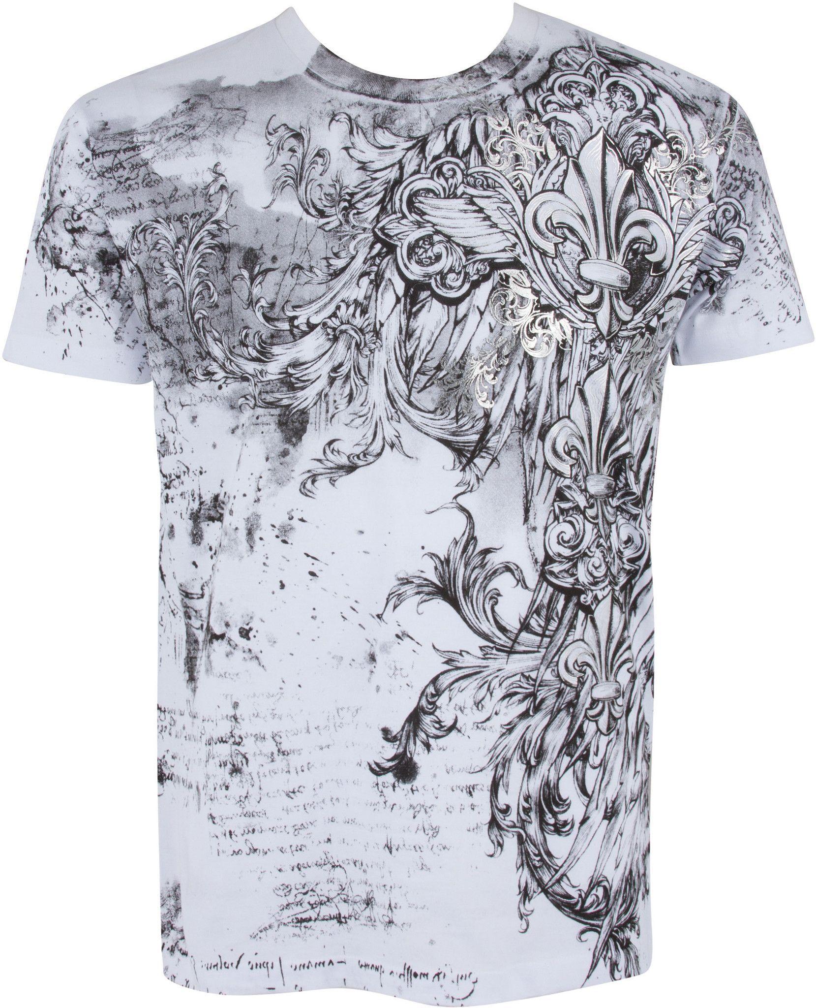 Sakkas Fleur De Lis Cross Metallic Silver Embossed Cotton