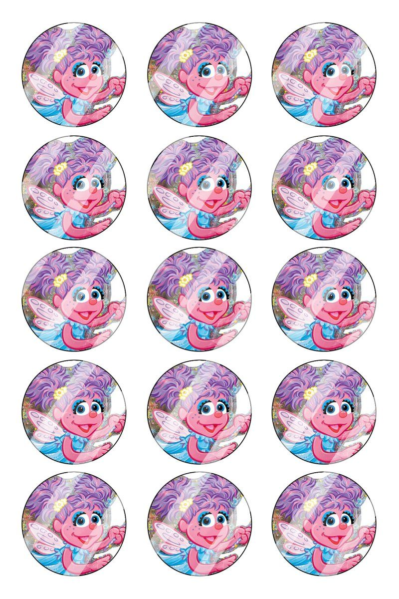 "Abby Cadabby Bottle Cap 1"" Circle Images Sheet #AC42 instant download or pre cut"