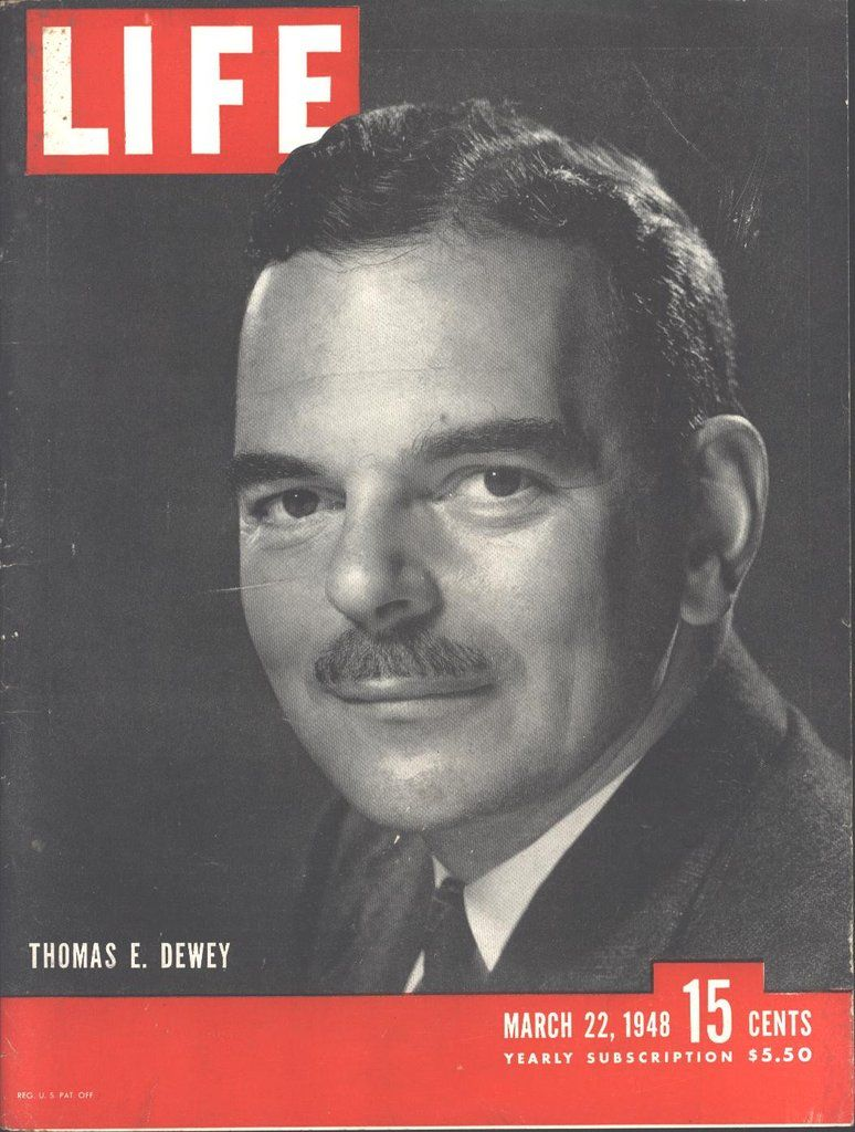 Cover Thomas E Dewey (Both Sides) 48 Studebaker Suicide Doors Page LIFE March 22 1948
