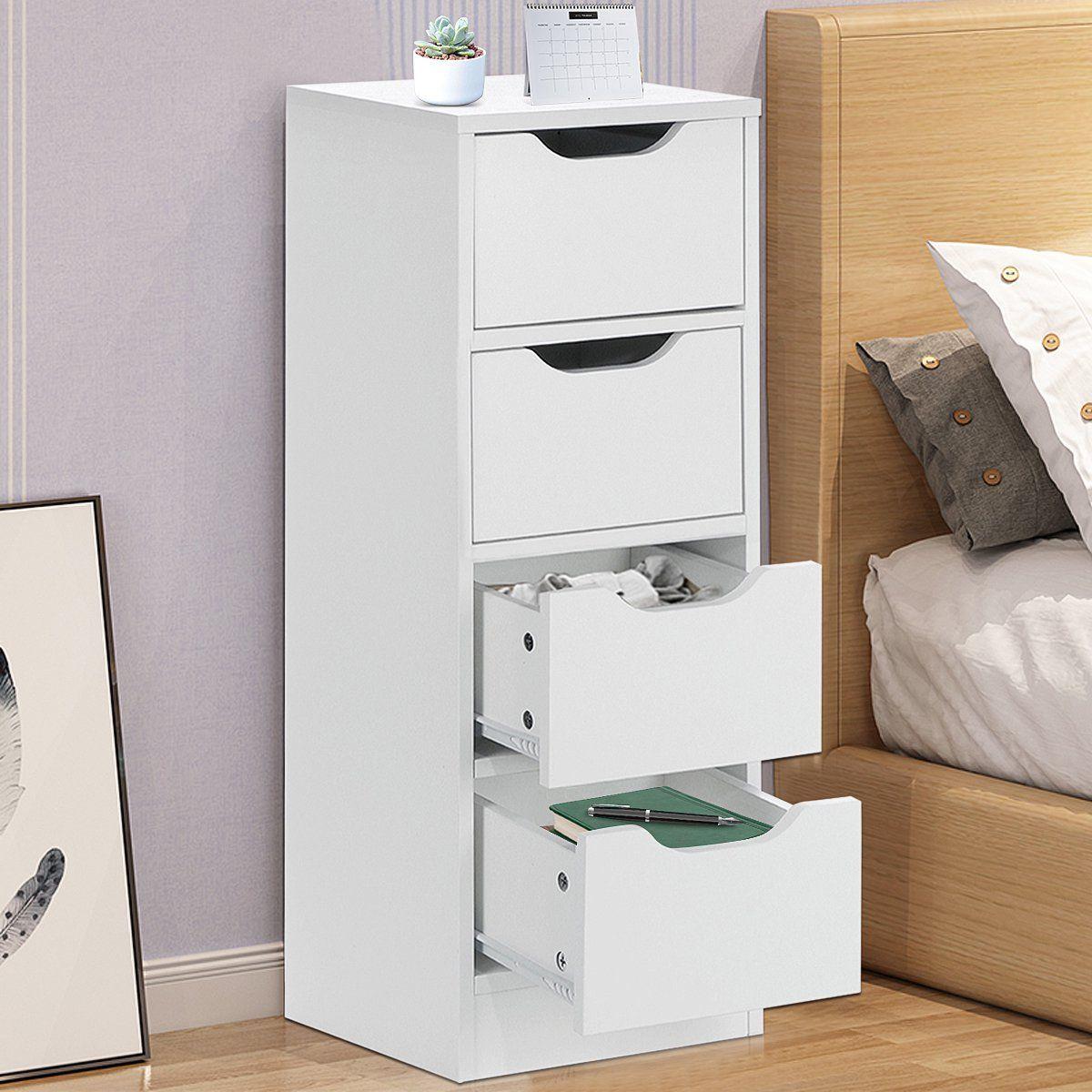 24++ Wooden 4 drawer free standing bathroom floor storage cabinet diy