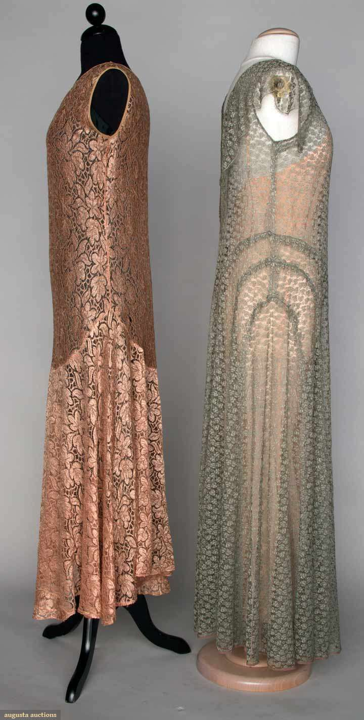 1920 lace dress  Augusta Auctions    Pinterest  s Gowns and Silk
