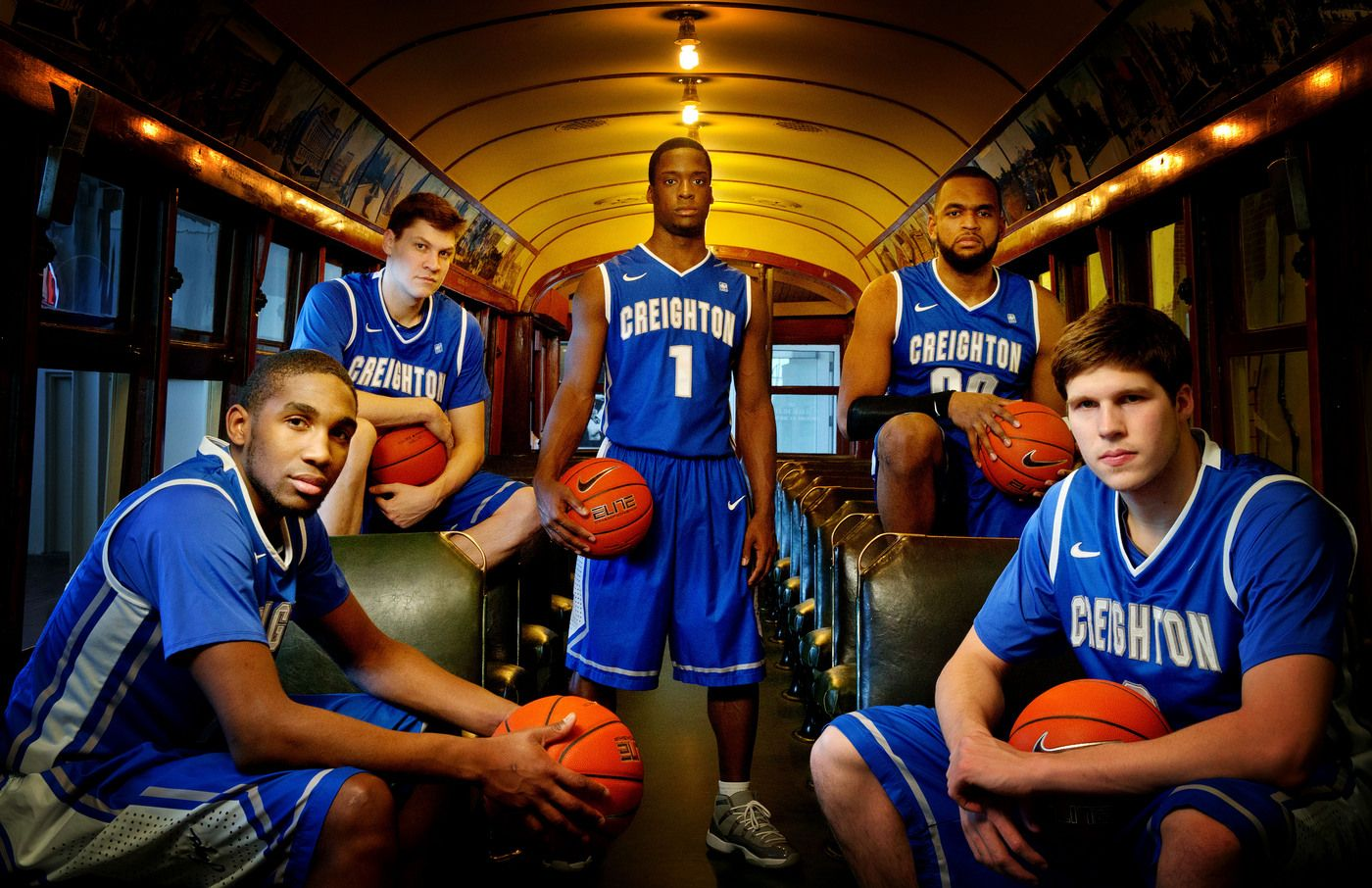 From left are Creighton's Jahenns Manigat, Grant Gibbs