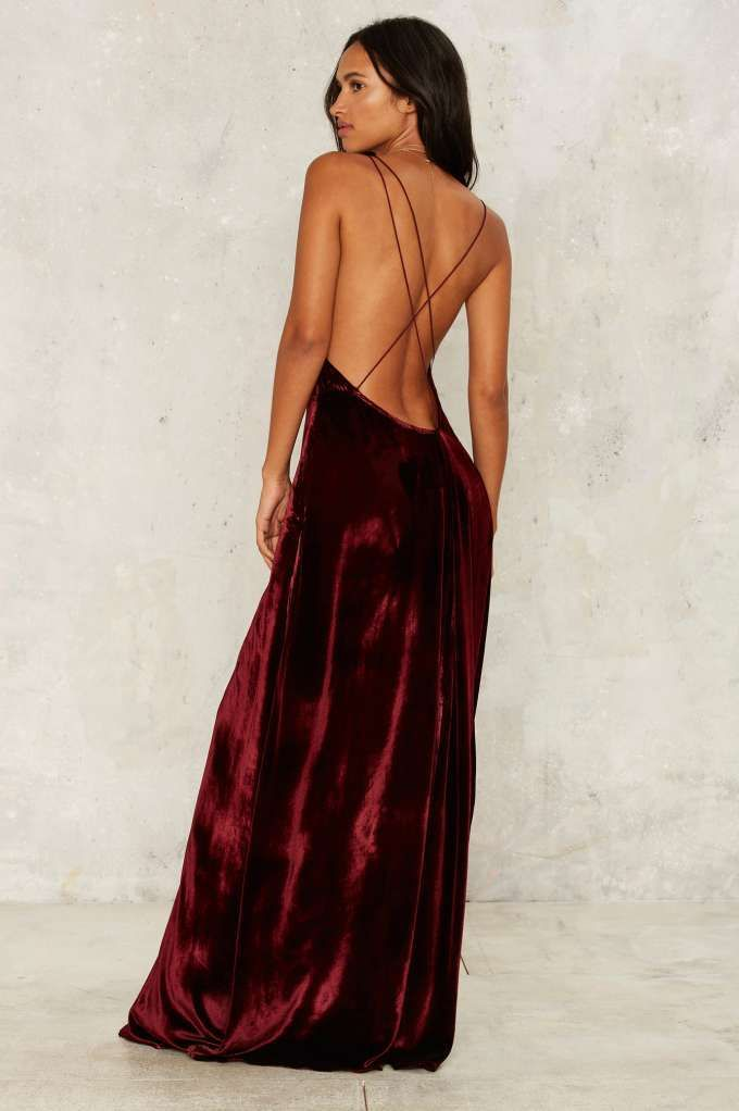 The Jetset Diaries Callie Velvet Maxi Dress - Clothes | Cocktail ...