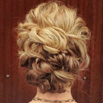 40 Creative Updos For Curly Hair Curly Hair Updo Hair Styles Curly Hair Styles