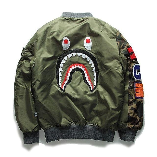 14fe14b96368 Bape Shark Man Bomber Jacket   High State Apparel More