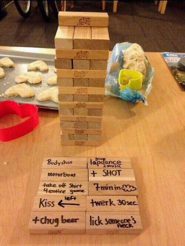 1. Battle Shots 2. Jenga 3. Beer Hockey 4. Chess 5. Chess (For those ...