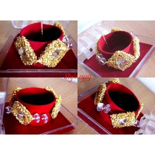 Gold Square - Jazz    - Online Shopping for Bracelets n Bangles by JAZZ Jewellery and Accessories