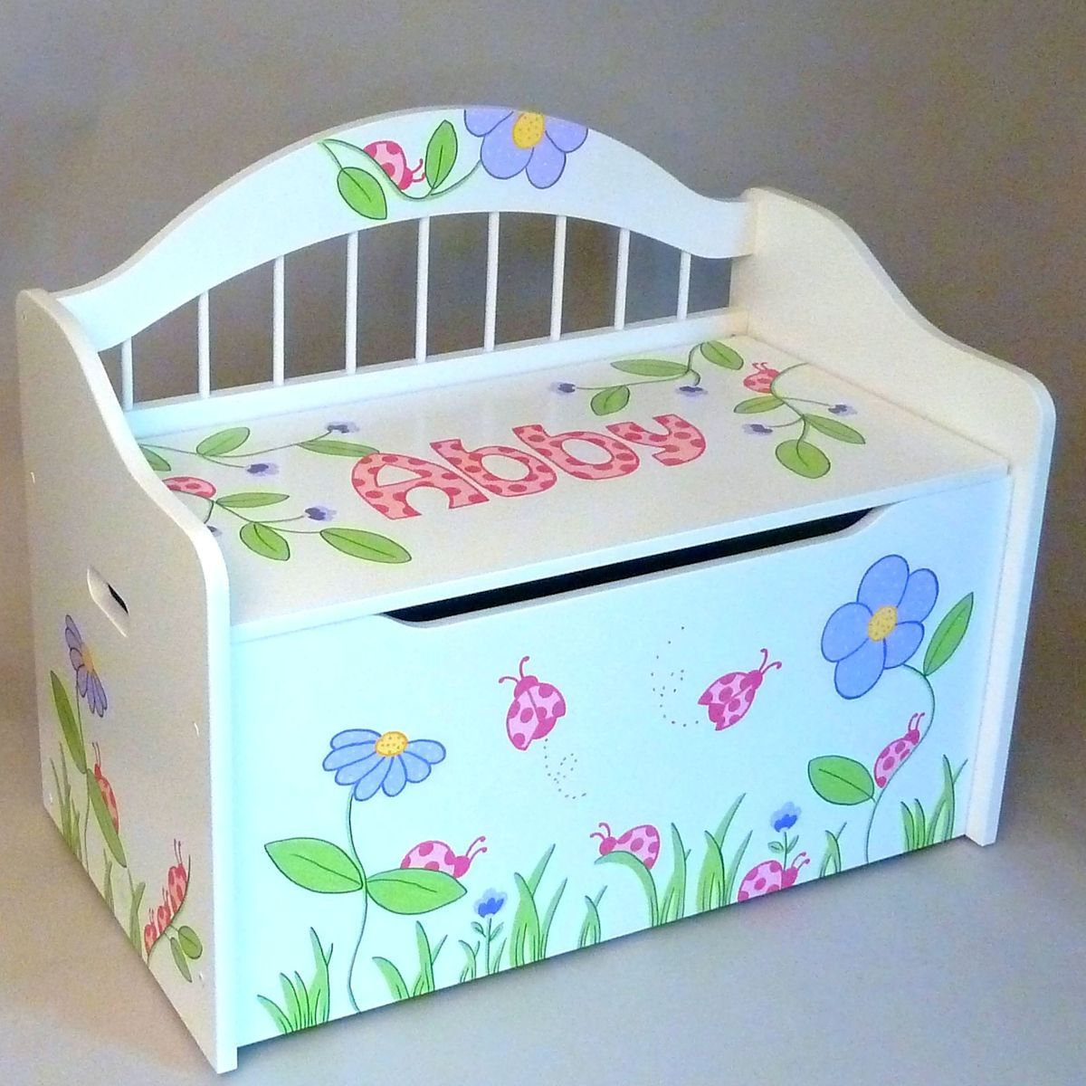 Personalized deacons bench toy box white toy boxes toy box personalized deacons bench toy negle Images