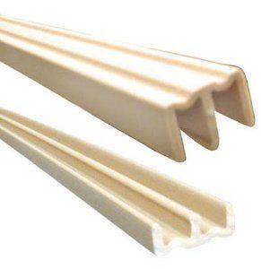 Knape Vogt 3 4x72 Plastic Track Set Tan By Knape Vogt 20 53 By Pass Door Hardware Sets For 3 4 Inch D Sliding Cabinet Doors Sliding Door Track Barn Door