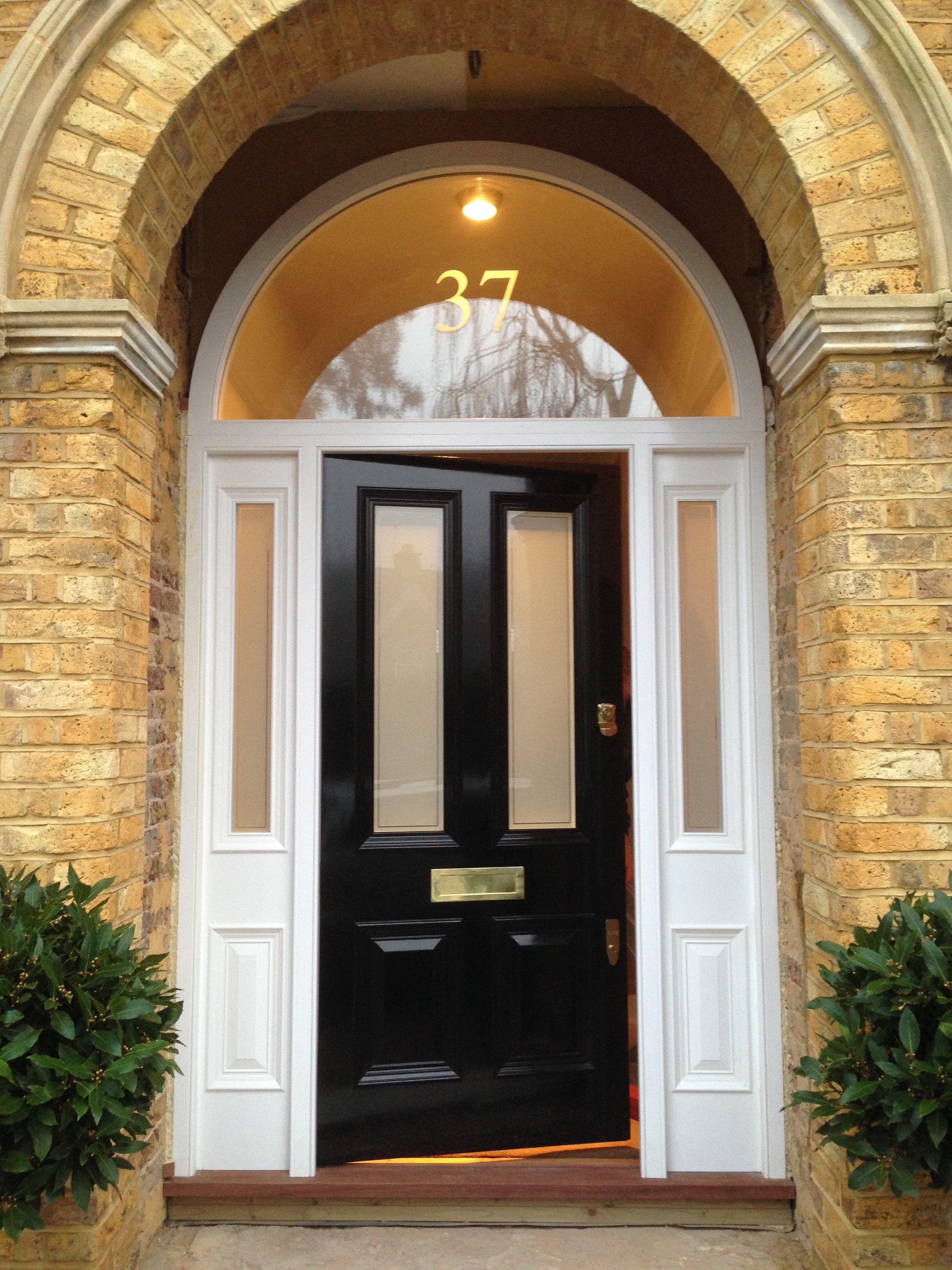 Victorian four panel front door in black gloss home making an victorian four panel front door in black gloss rubansaba