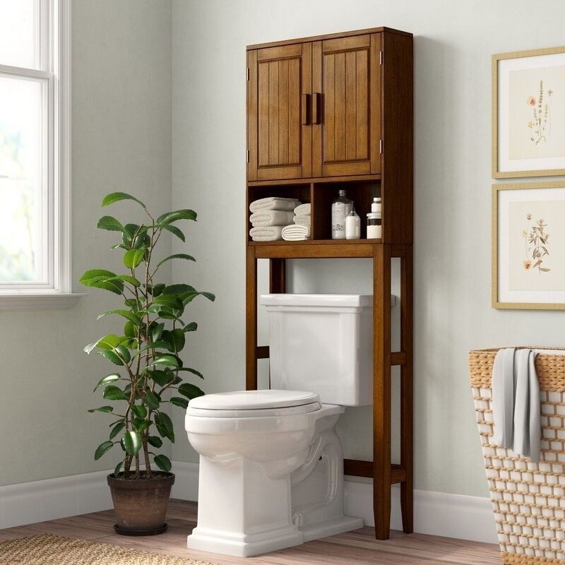 An Over The Toilet Storage System To Organize Everything From Extra Towels Toilet Paper And Skincare While Adding An Earthy Ambiance To Your Washroom In 2021 Toilet Storage Toilet Shelves Over Toilet Storage Over the toilet bathroom cabinets
