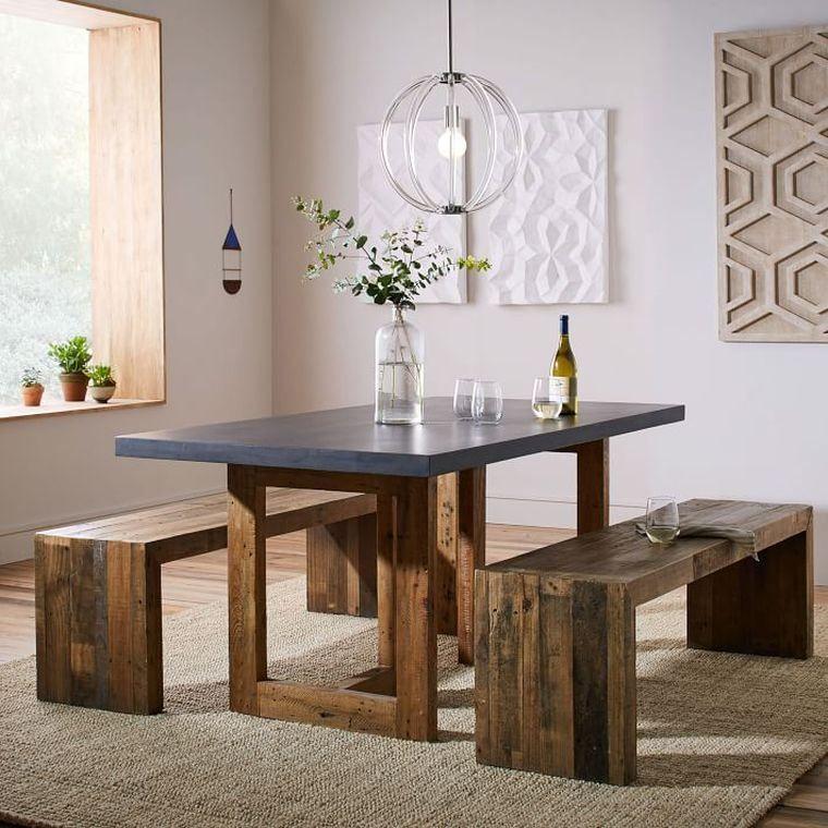 table en bois pour salle manger rustique