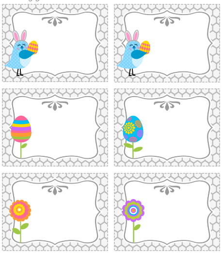 Put some candy in snack size baggies and add these easter toppers frugal life project free printable easter treat bag topper and tags negle Choice Image