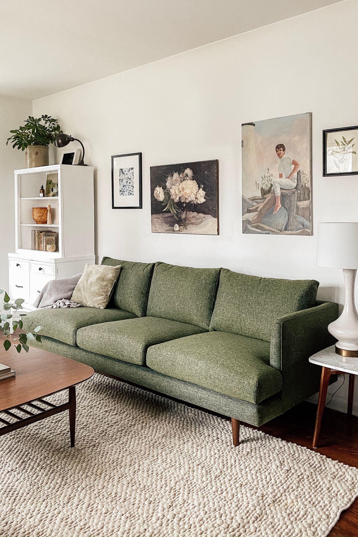 Burrard Forest Green Sofa