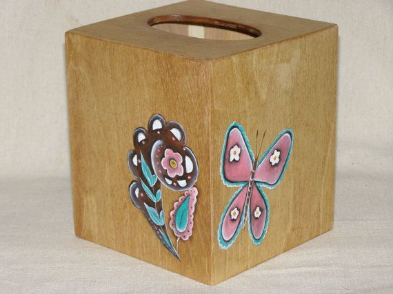 butterfly and paisley tissue box cover by AmyFranco on Etsy, $9.99