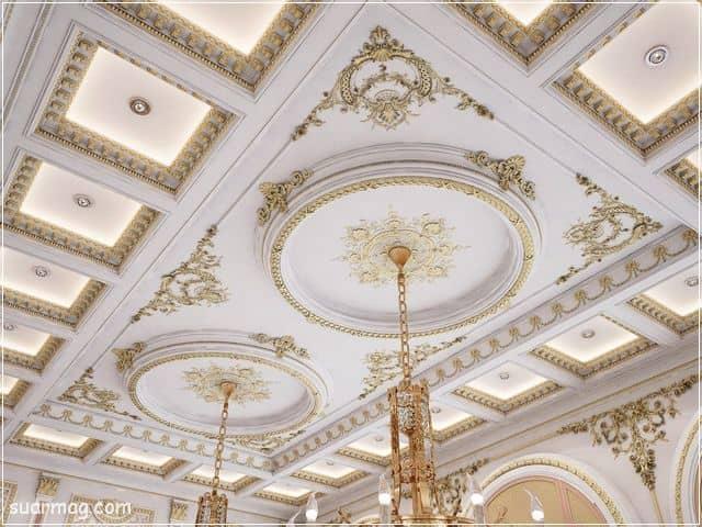 اجمل ديكورات جبس اسقف راقيه كلاسيك 2020 فخمة Ceiling Design Plaster Ceiling Design Luxury Ceiling Design