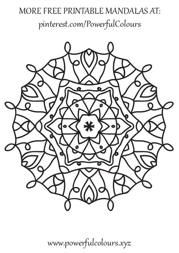 12 FREE Intermediate Mandala coloring pages for adults Alleviate