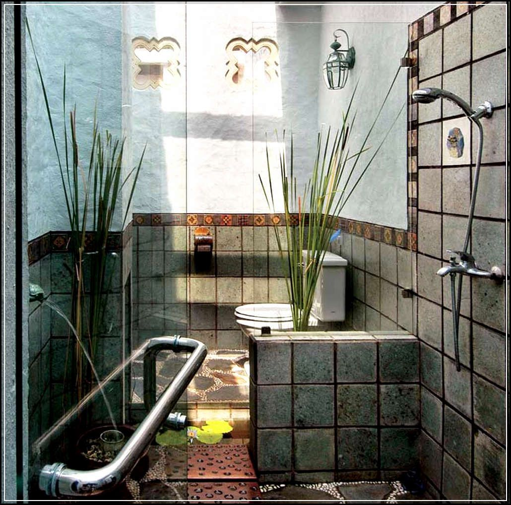Desain Kamar Mandi Nuansa Alami  Minimalist small bathrooms