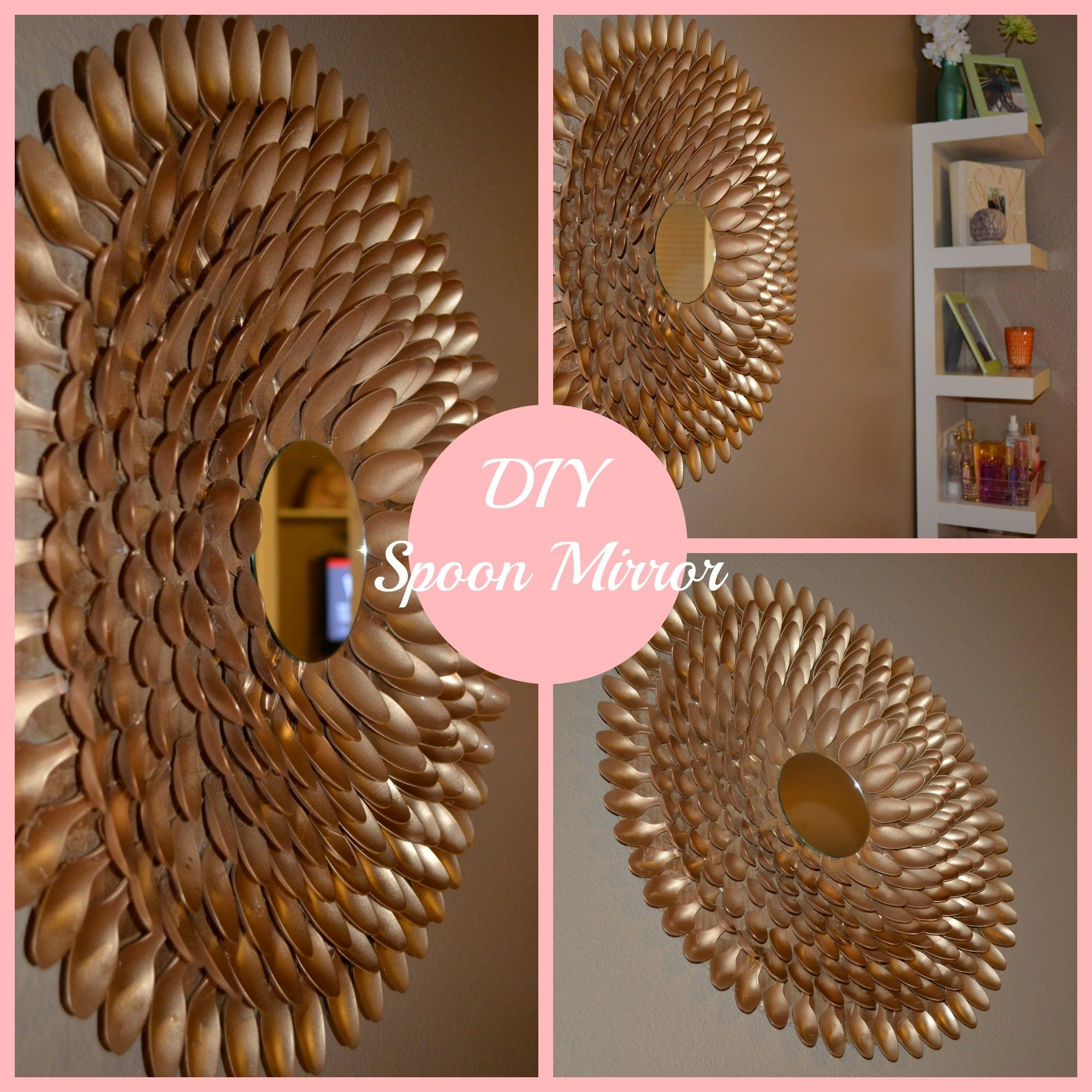 Diy spoon mirror wall decor diy 39 s pinterest spoon for Home made decoration pieces