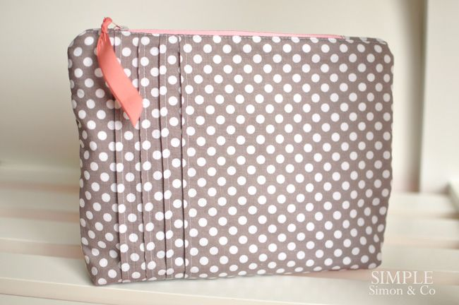 A Pintucked Zipper Pouch. - Simple Simon and Company