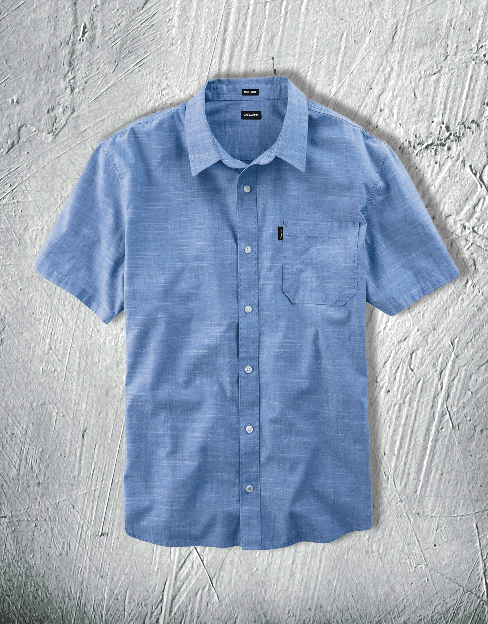 1eac1f8dad7 Nothing says classic quite like a Chambray shirt when the temperatures are  warming up. Dickies  X-Series Chambray Shirt features material made from  100% ...