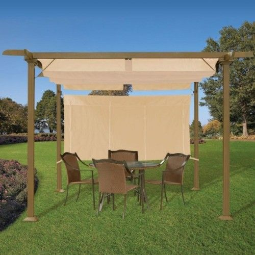 Marvelous Pergola With Adjustable Shades Contemporary Gazebos