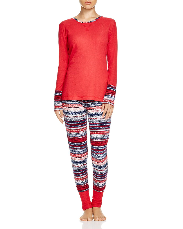 Splendid Intimates Holiday Fair Isle Cozy Pajama Set